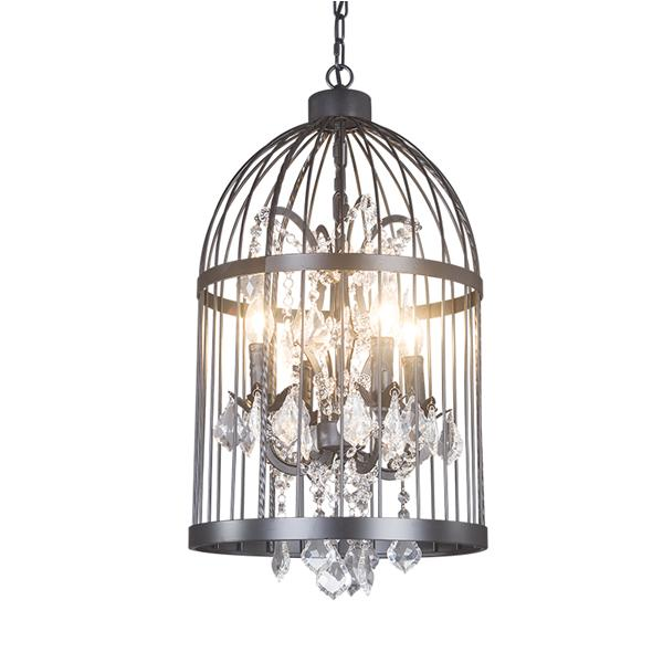 Wrought iron Birdcage rustic Crystal Light