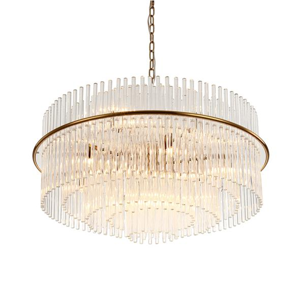 Dining room large crystal pendant lamp