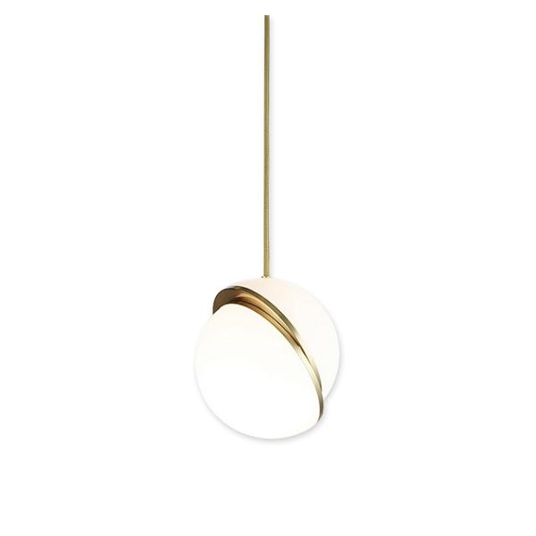 Spherical trimmed acrylic lampshade chandelier