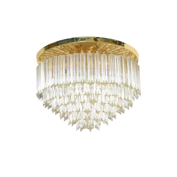 Crystal glass rod ceiling lamp