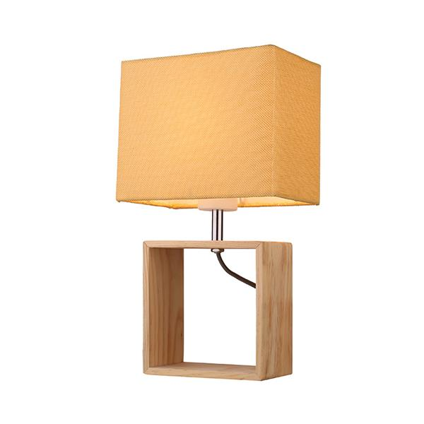 Wood cloth hotel table lamp